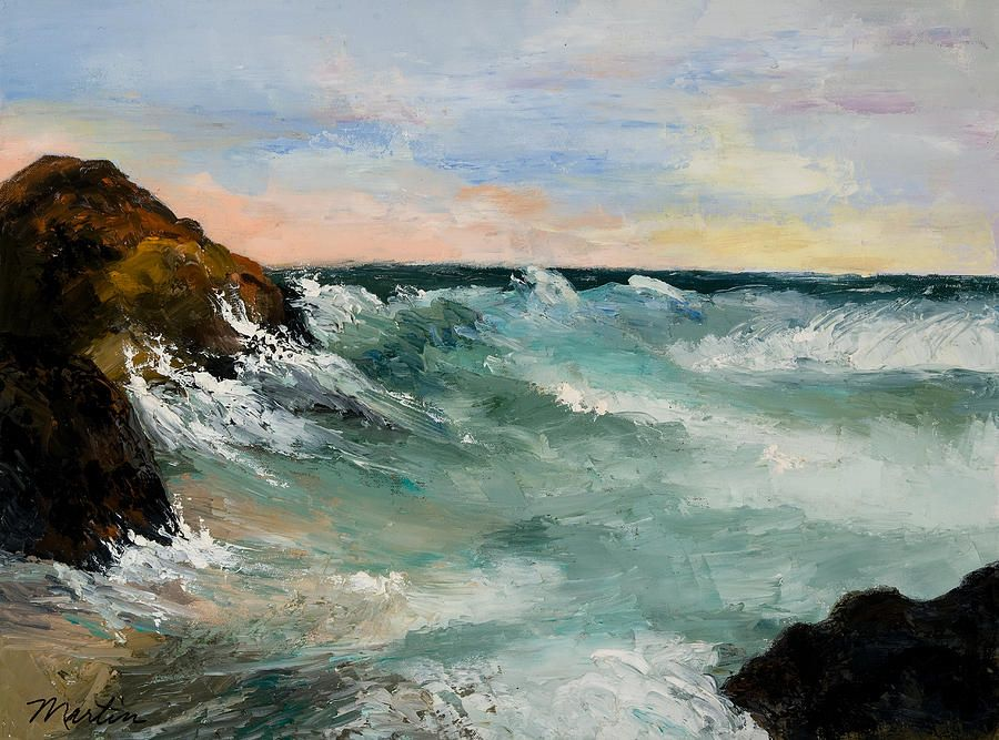 Twilight Surf By Larry Martin Art Marine Sky Seascapes Painting Surfing I Am Going Home