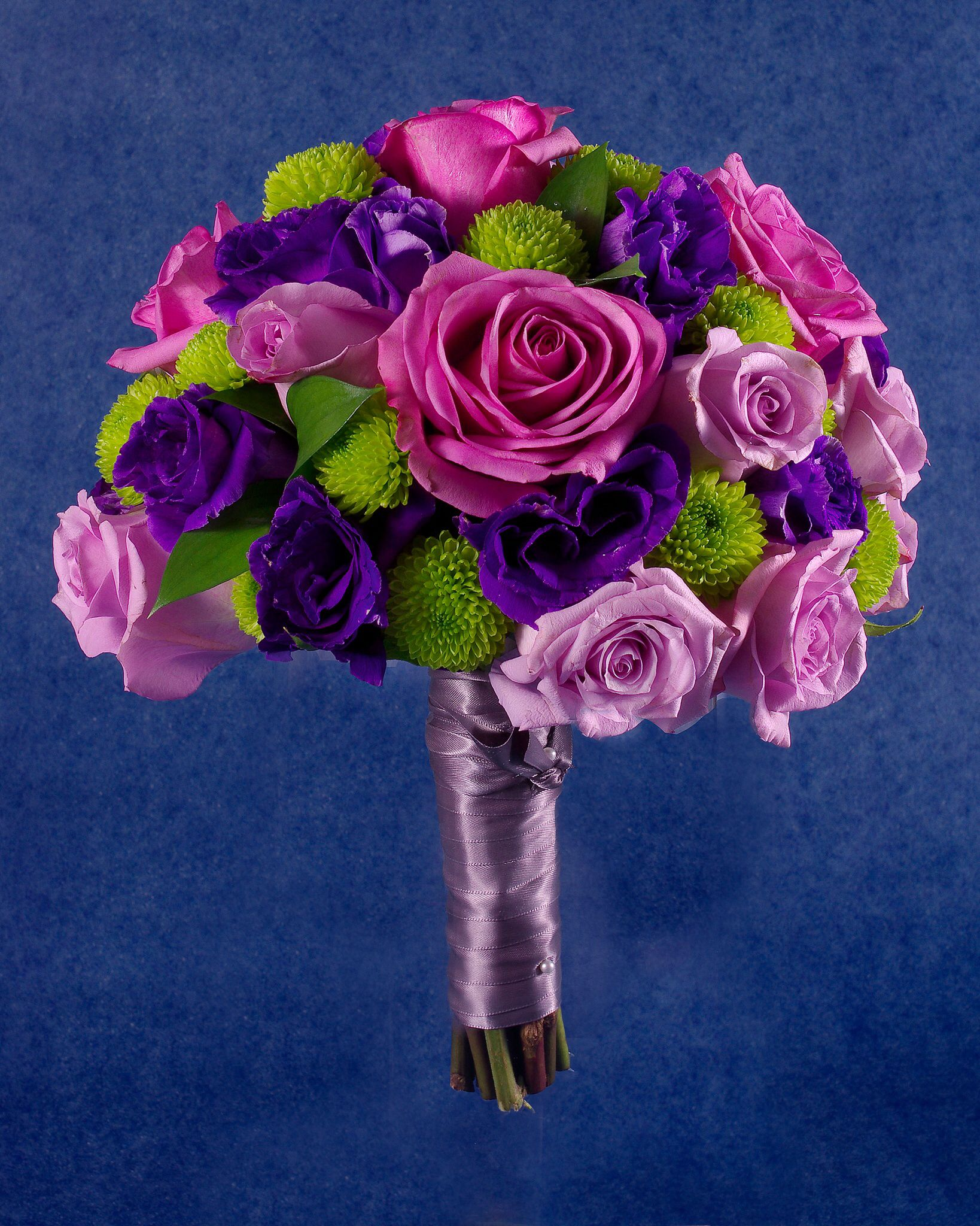 Roses And Lisianthus Bridesmaid Bouquets Purple Lavender Violet Lime Gre Purple Bridesmaid Bouquets Colorful Wedding Bouquet Lisianthus Bridesmaid Bouquet