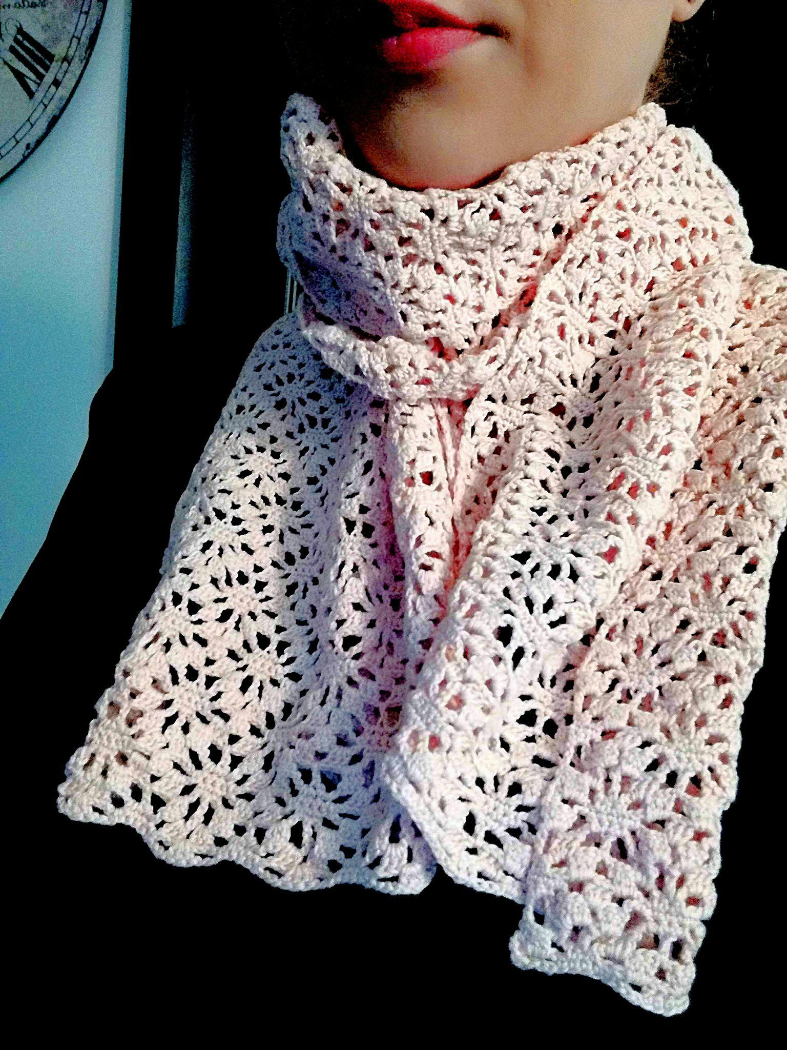 How To Crochet A Lace Scarf Free Pattern Crochet Scarves Hats