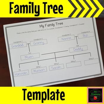 Free Family Tree Grid Template Use This Freebie With Your