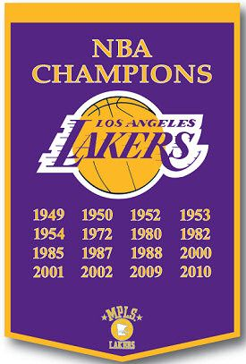 Lakers Championship Banner Lakers Championships Los Angeles Lakers Lakers