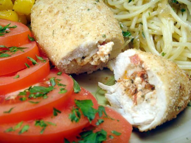 Feta, Tomato & Basil Stuffed Chicken