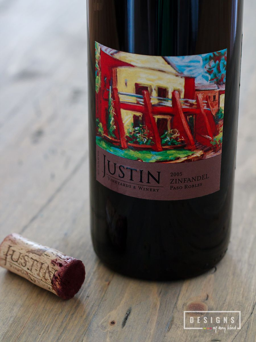 Just Tasted 2005 Justin Zinfandel Paso Robles California Designs Of Any Kind Zinfandel Wine Drinks Wines