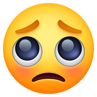 Pleading Face Emoji On Facebook 4 0 Emoji Emoji Images Eyes Emoji