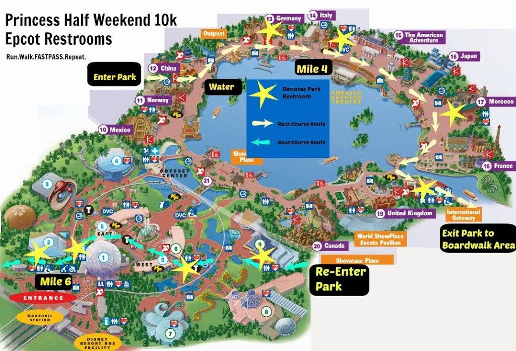 The Disney Princess Enchanted 10k Course Map Can Be Found Here Its