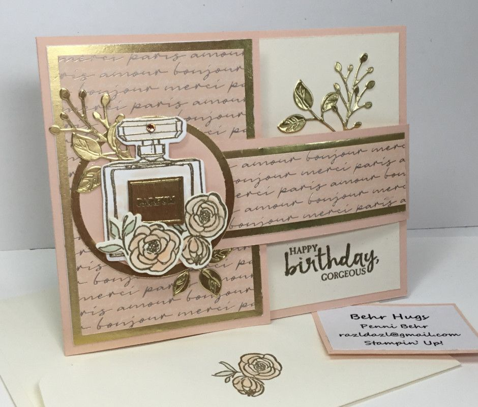 This Card Was Made For A Friend To Give To Her Mother Her Mother Owns An Upscale Clothing G Stamping Up Cards Birthday Cards For Women Handmade Birthday Cards
