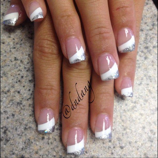 Glam+Nails. White NailsWhite French NailsColored Nail Tips ... - Glam+Nails Nail. 1 Pinterest Nail Nail, Manicure And French