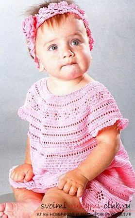 Как связать красивое платье для маленьких девочек своими руками крючком, схемы, описание, фото.. Фото №1