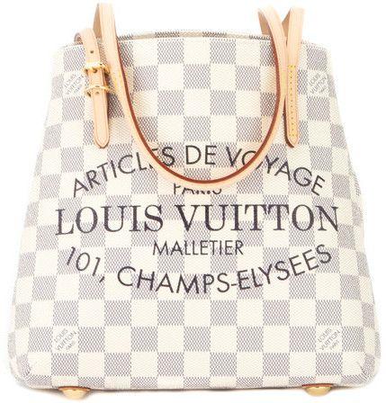 Louis Vuitton Damier Azur 101 Champs Elysees Cabas Pm Tote Authentic Pre Owned