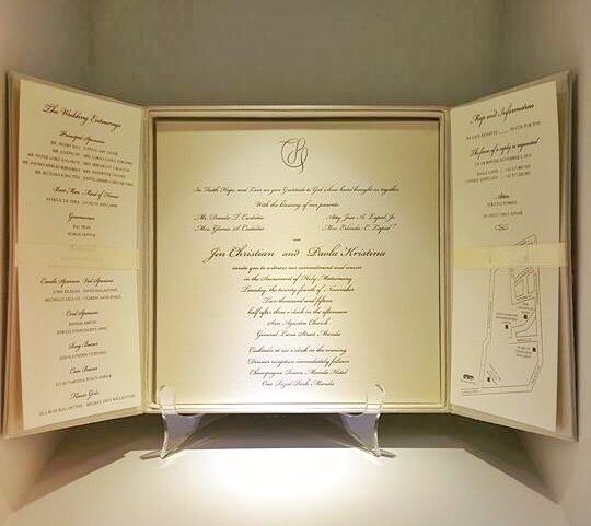 Inside of #ItsDestiny2015 church wedding invitation #LapidCustodio