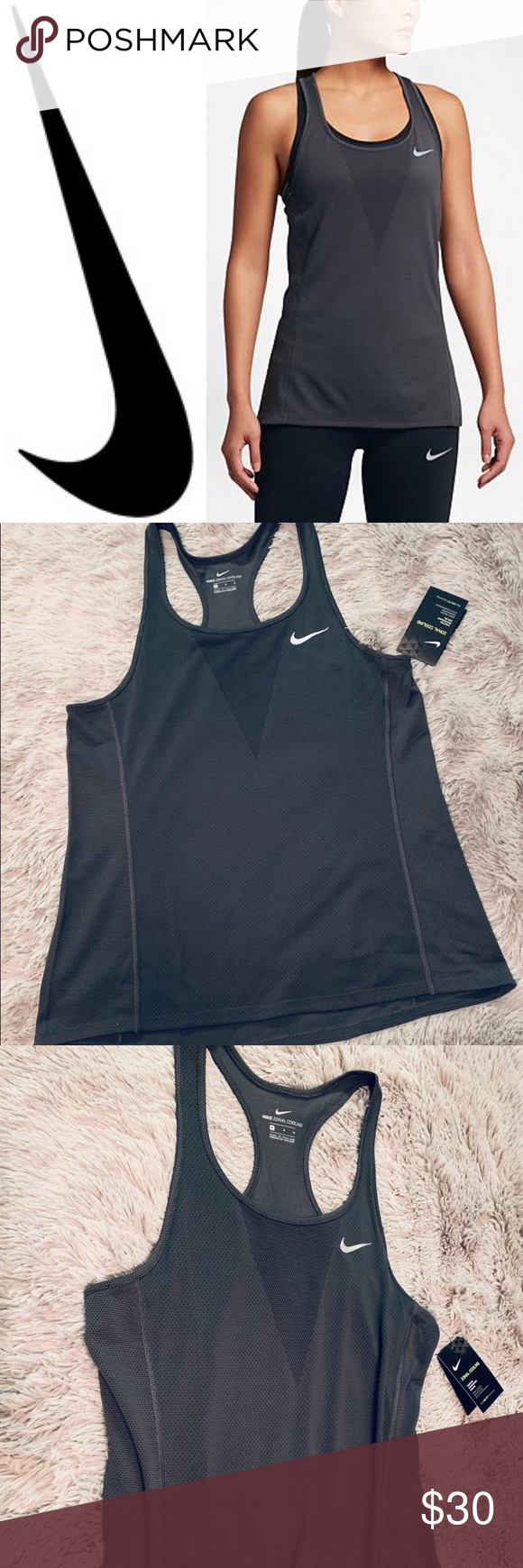 Sold Nike Grey Zonal Cooling Tank Top Tank Tops Clothes