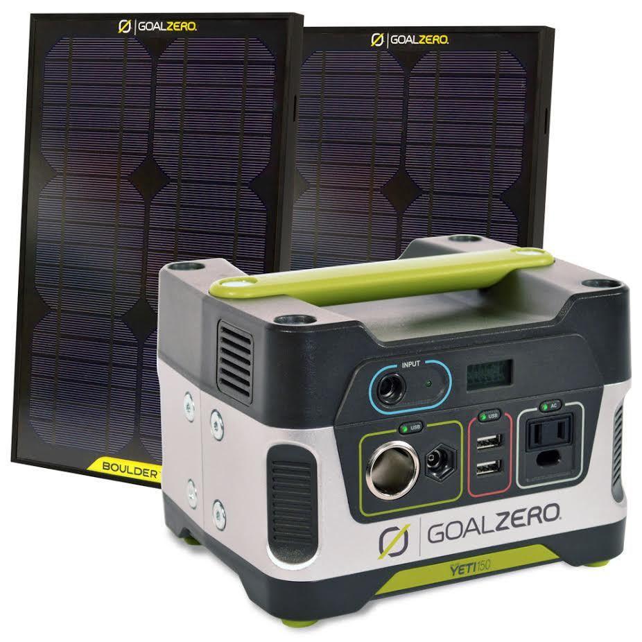 Goal Zero Yeti 150 Solar Generator Kit Overland Gear Hq Overland Gear Solar Generator Rv Solar Power