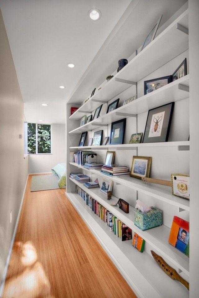 Flur und Diele gestalten als Raumbibliothek und Abstellfläche - ideen bibliothek zu hause gestalten