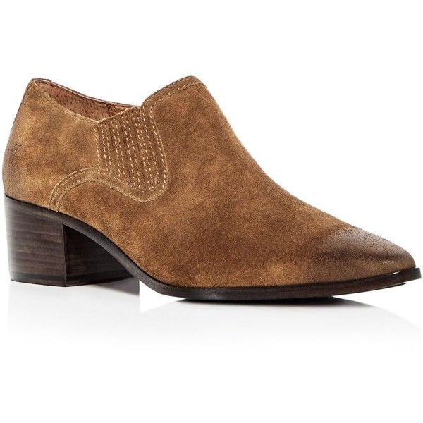 Frye Women's Eleanor Western Suede Pointed Toe Booties Ah4Hz5WjF