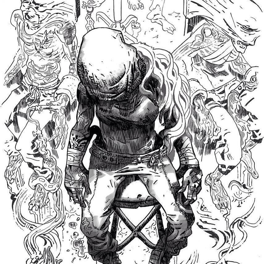 #Turncoat #4 #cover BW details - some usual inks plus grey Touch markers <3…