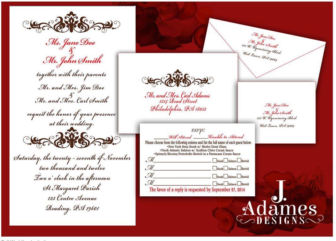 Fall wedding invitation jadamesdesigns@gmail.com | Jadames Designs ...