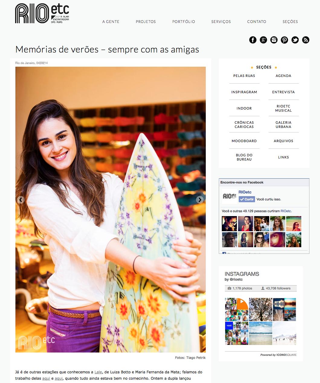 Lançamento de coleçao da marca Lale com prancha Clau Cicala p/ decorar :D