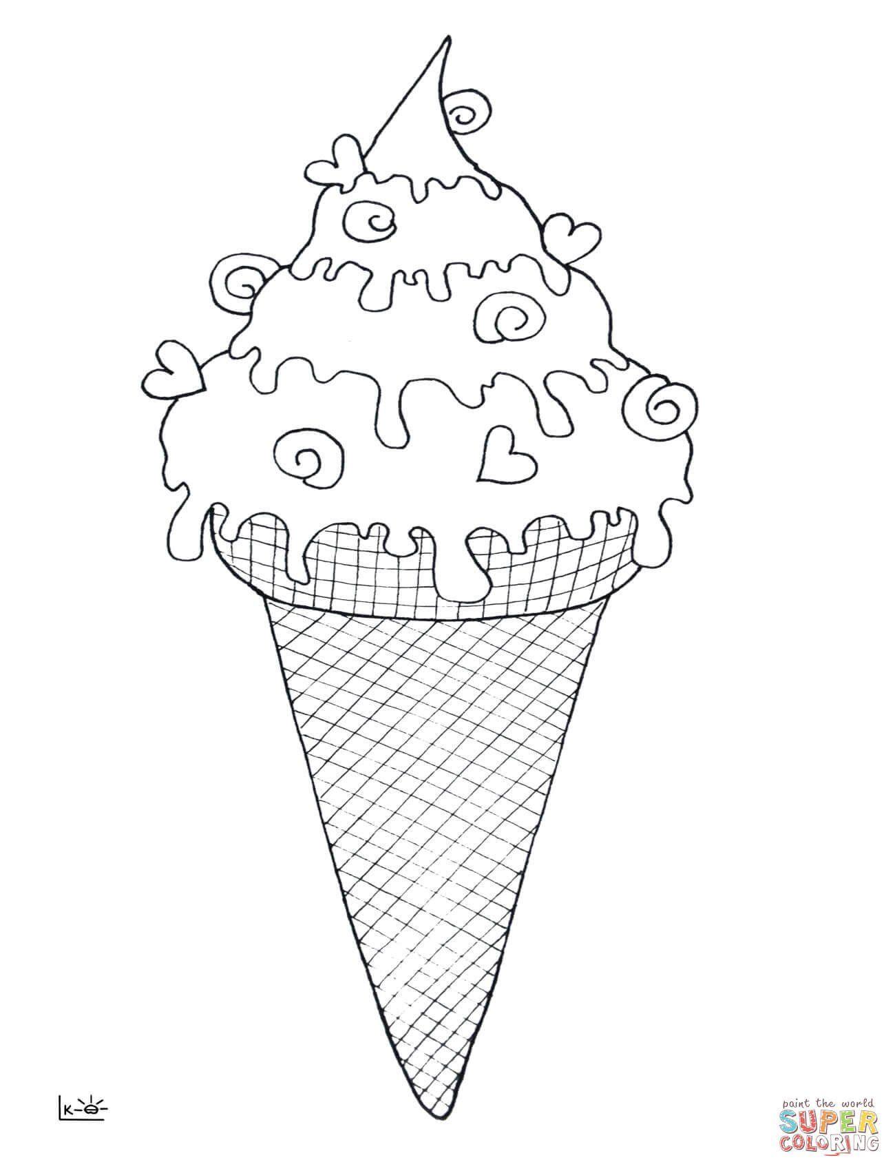 Ice Cream Cones Coloring Page Ice Cream Cone Coloring Page Ice Cream Coloring Pages Cool Coloring Pages Coloring Pages Inspirational