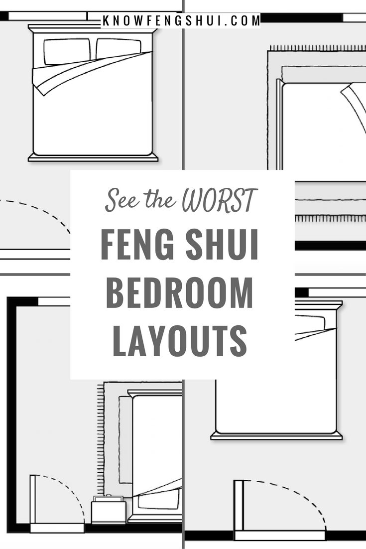 11 Bad Feng Shui Bedroom Layouts  Feng shui bedroom layout, Master