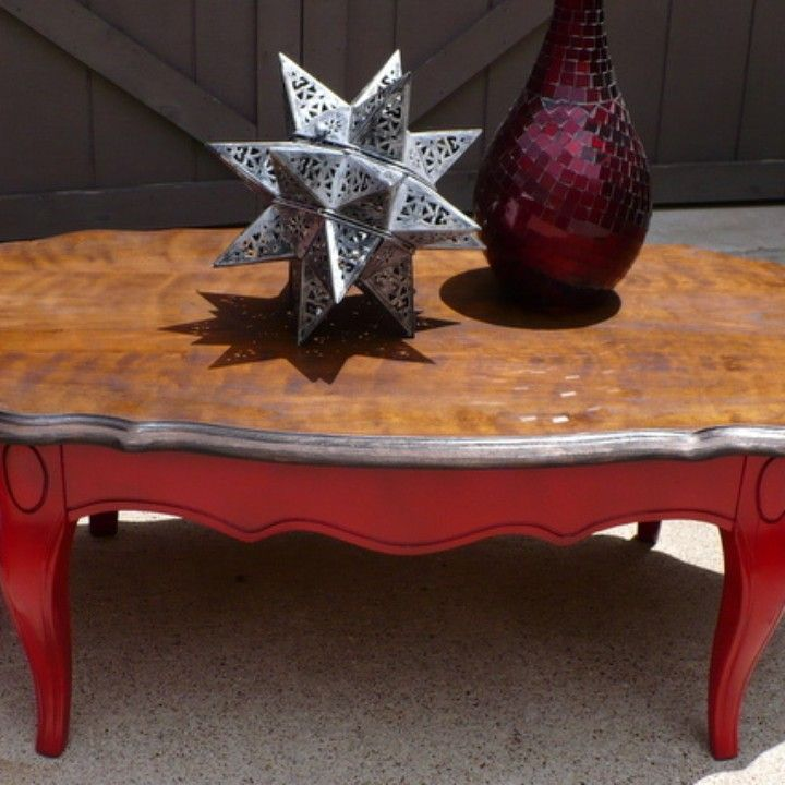 Cool Sold Coffee Table Oval Vintage New Apple Red Paint With Bralicious Painted Fabric Chair Ideas Braliciousco