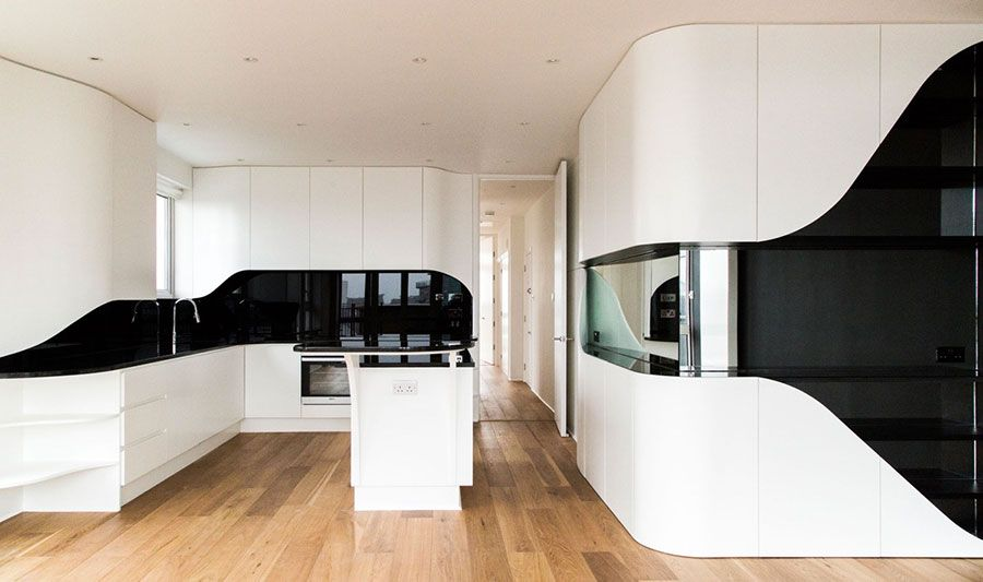 Cucina bianca e nera dal design moderno 13   Cucine   Pinterest