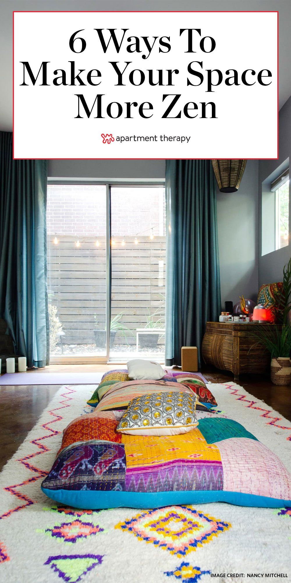 Here S Why You Need A Zen Den And How To Make One In A Small Space Zen Living Rooms Small Spaces Small Room Decor