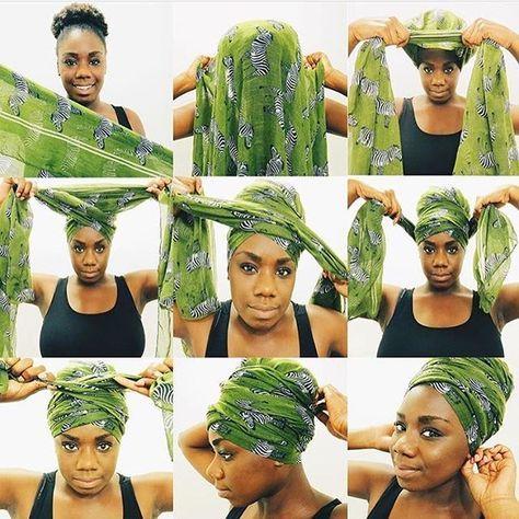 Kandiizheart Loving This Headwrap Tutorial Guna Go Practice This One Thenubiancrown Hair Wrap Scarf Head Wrap Styles Head Scarf Styles