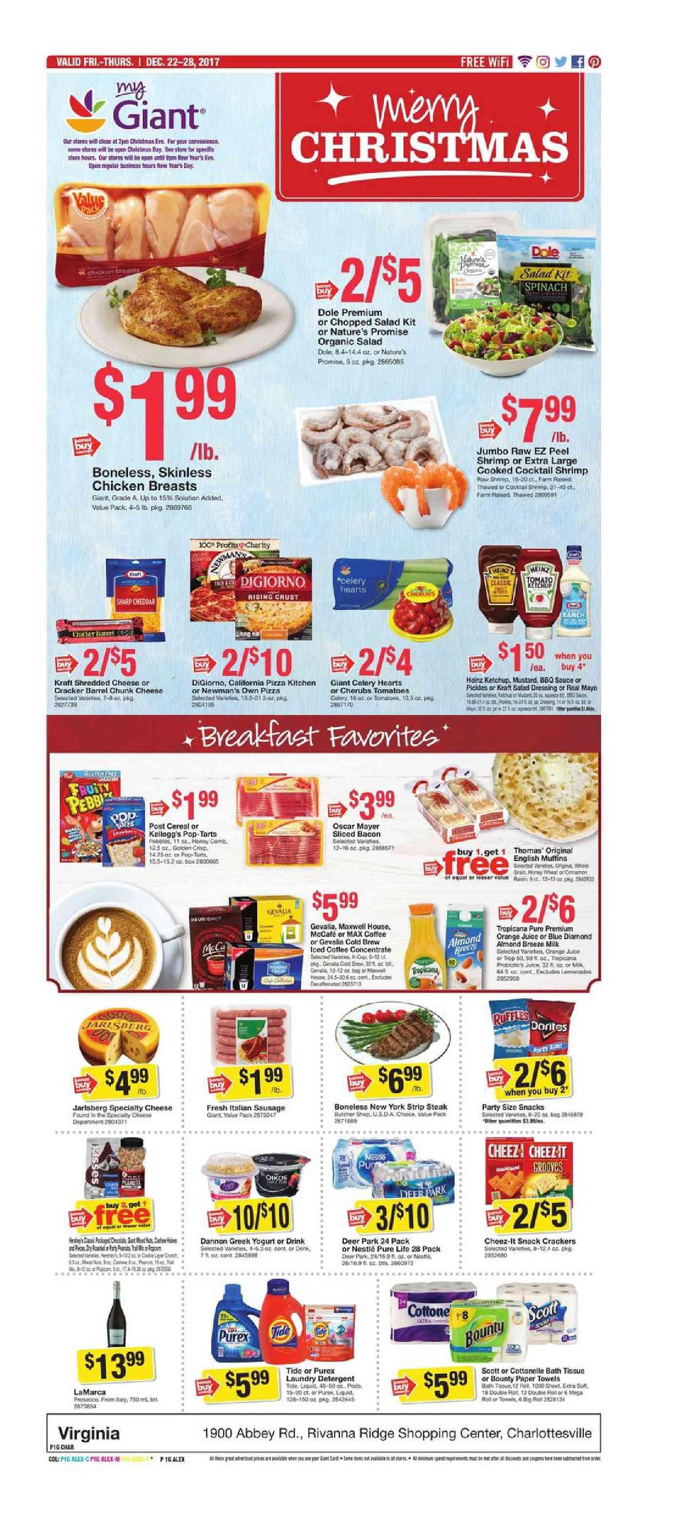 Giant food weekly ad december 22 28 2017 httpwww
