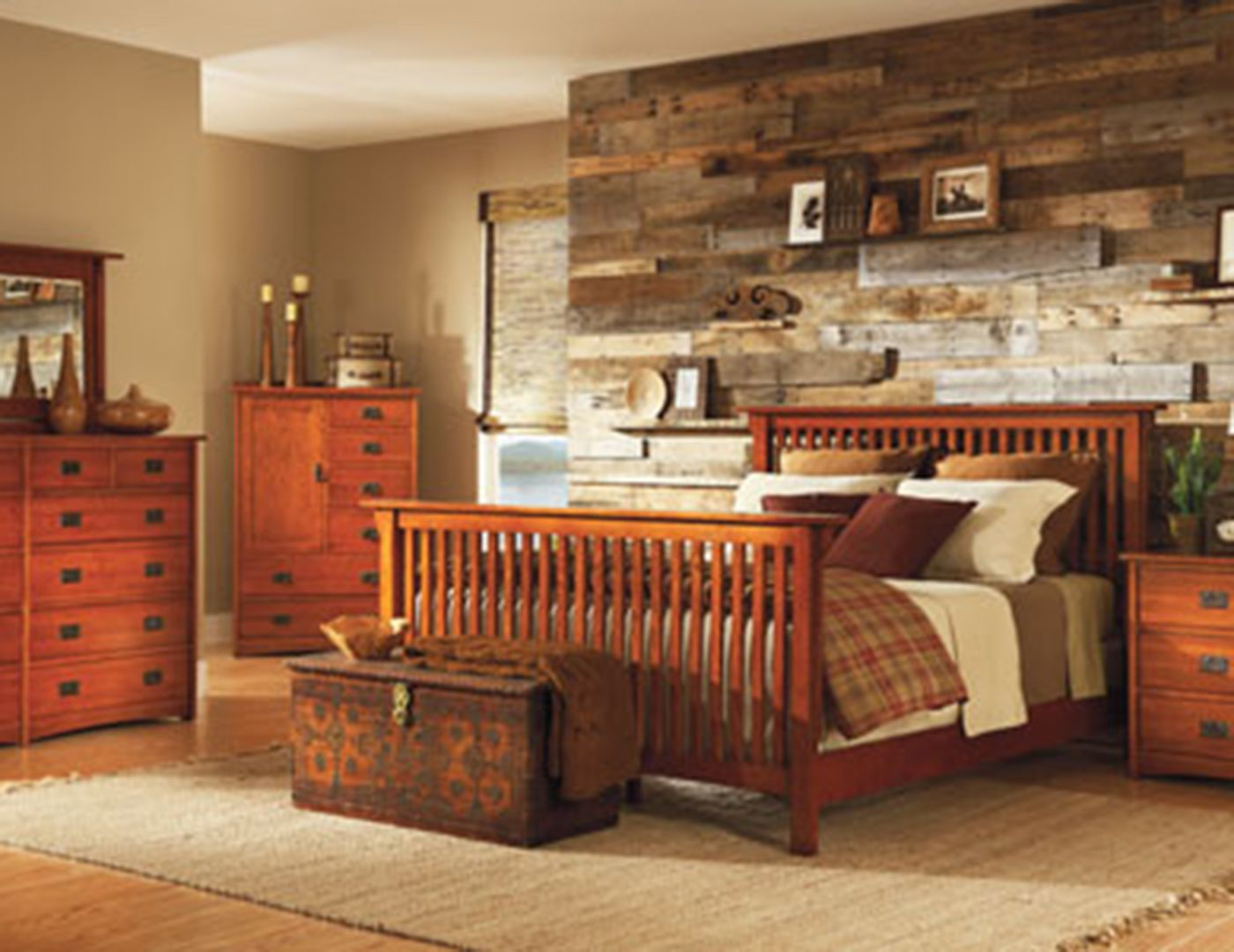 Witmer American Mission Queen Storage Bed Mission style