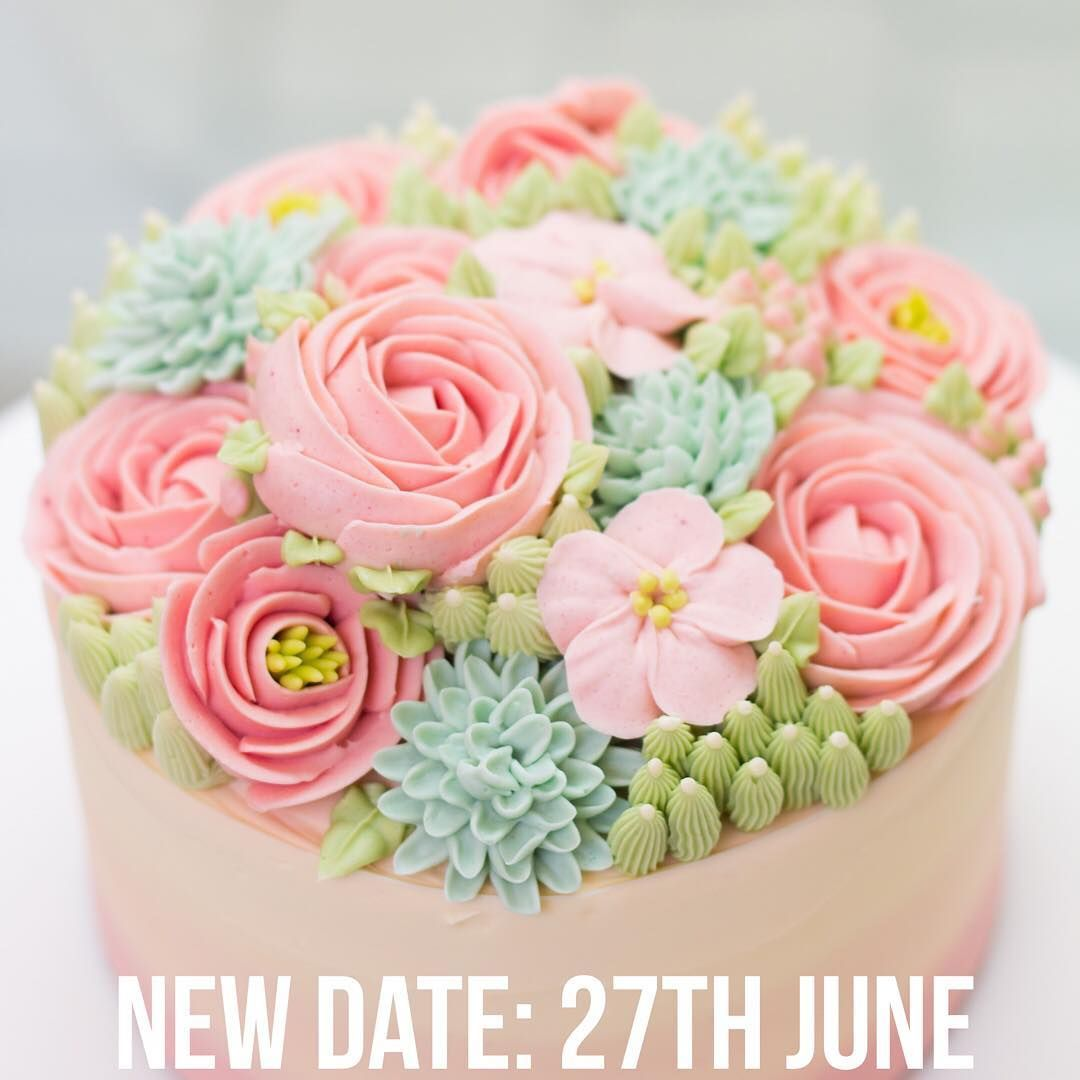 Final date before summer announced for buttercream flowers cake final date before summer announced for buttercream flowers cake class 27th june clear your izmirmasajfo Images