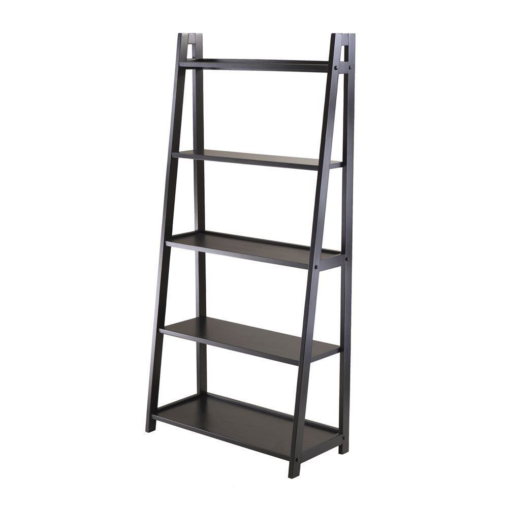 winsome wood 20513 adam 5 tier a frame ladder shelf lowe s canada