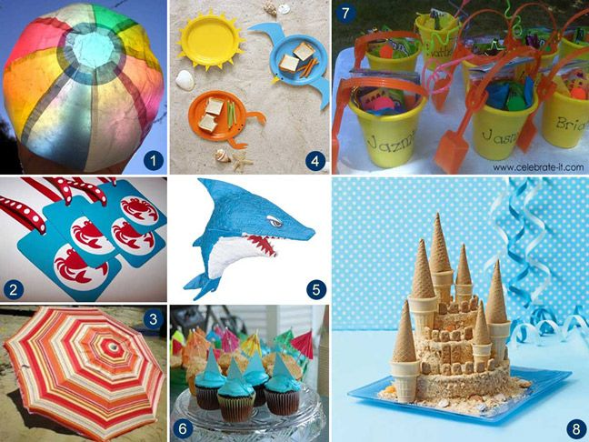 Make A Beach Party At Home Beach Themed Party Beach Party