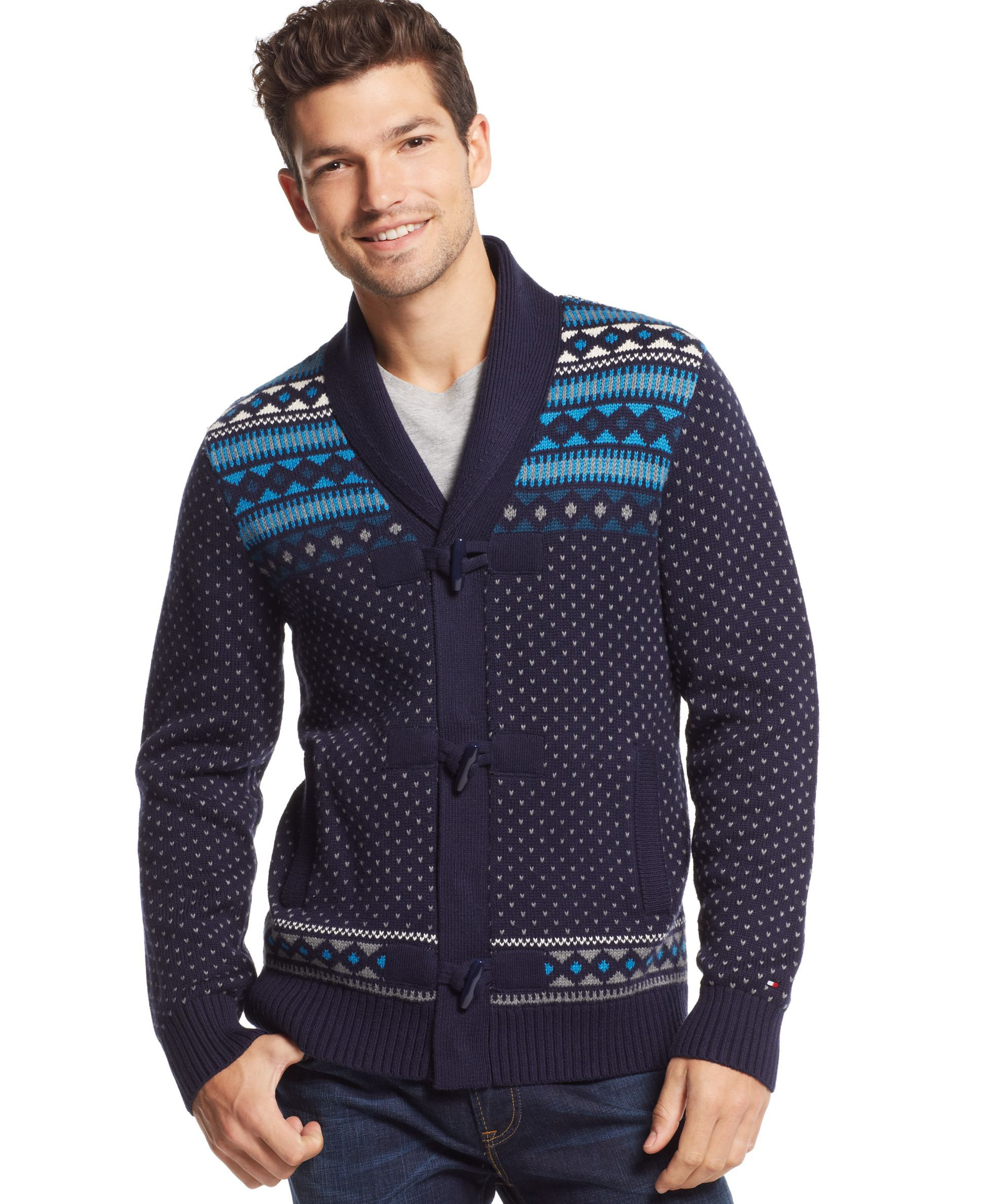 Tommy Hilfiger Moore Fair Isle Shawl Collar Sweater | Products ...