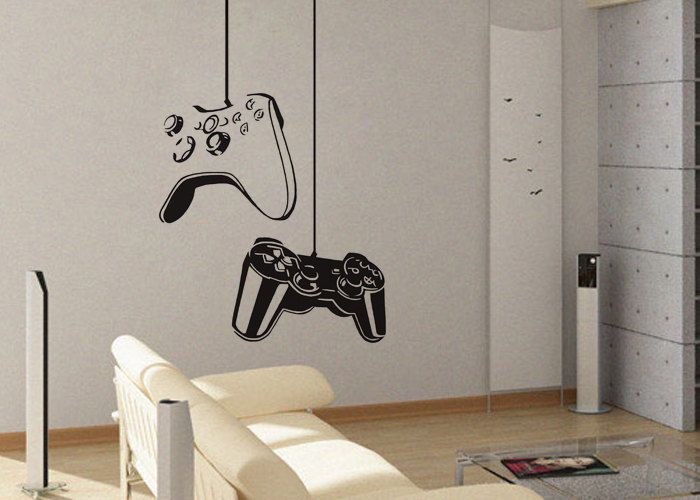 Game On Vinyl Wall Sticker Art Decor Removable Decal Mural - Vinyl wall decals removable