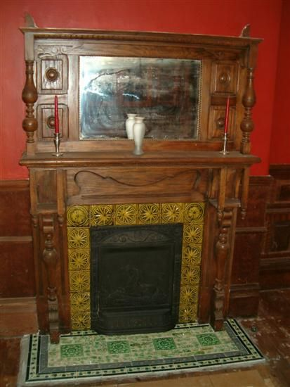The Petch House Tile Time In 2019 Vintage Fireplace