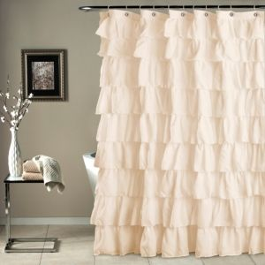 Ruffle Shower 72x 72 Curtain