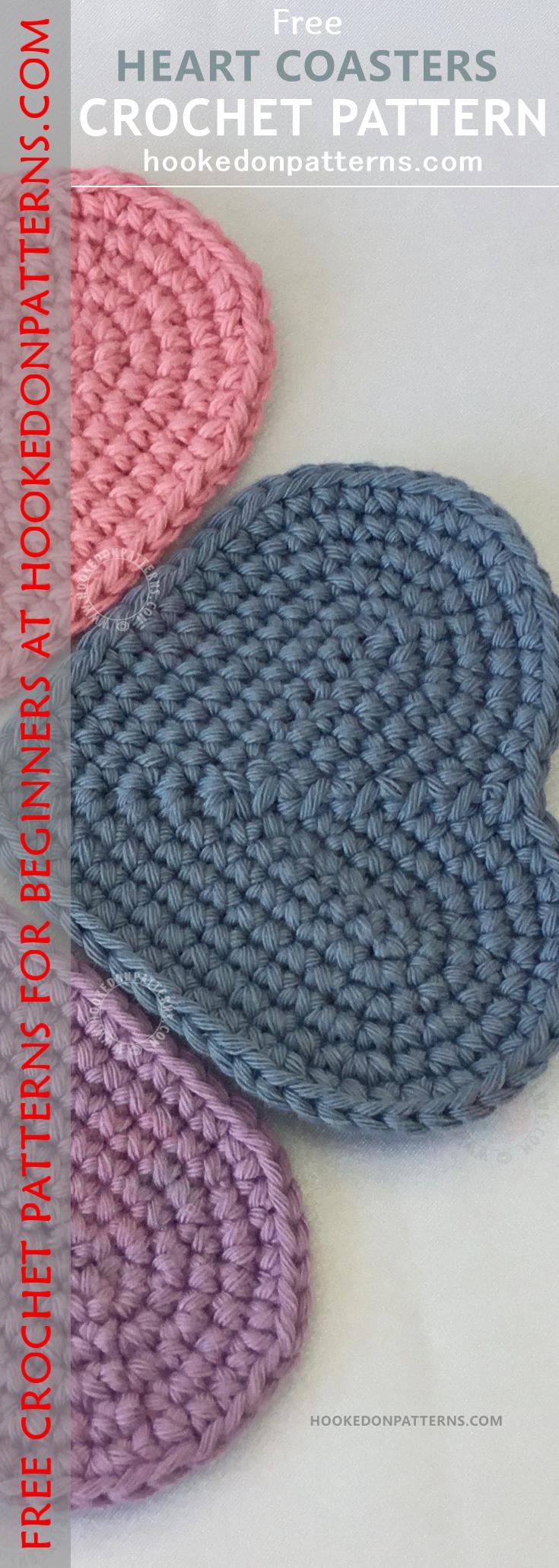 Free Heart Coaster Crochet Pattern | Crochet coaster pattern ...