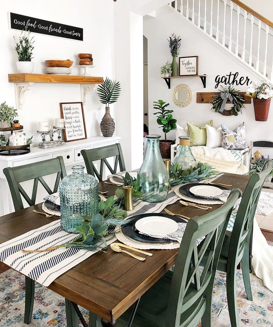 Photo of Farmhouse Spring Dining Room