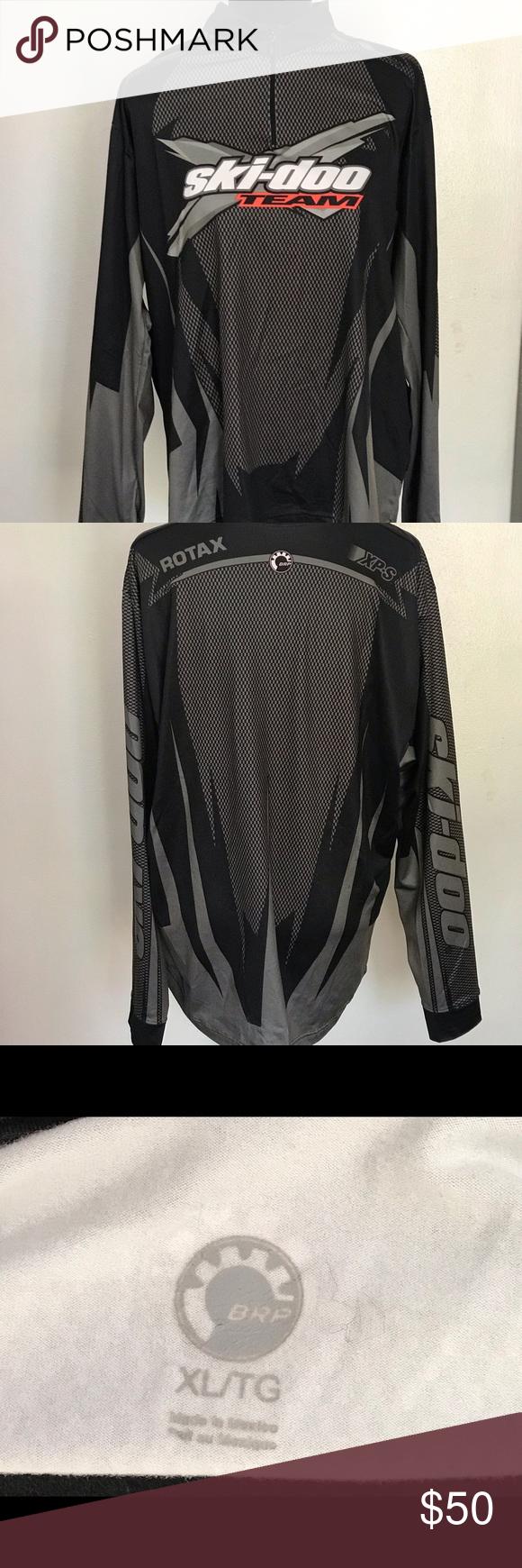 Ski Doo Platinum Owner S Club Half Zip Pullover Shirt Jersey Men S Large New Skidoo Halfzip Casual Shirts For Men Casual Shirts Mens Shirts