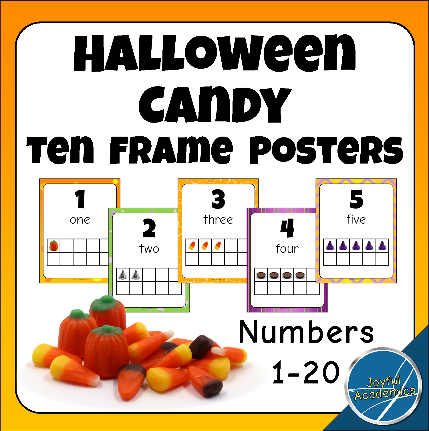 Halloween Candy Ten Frame Posters