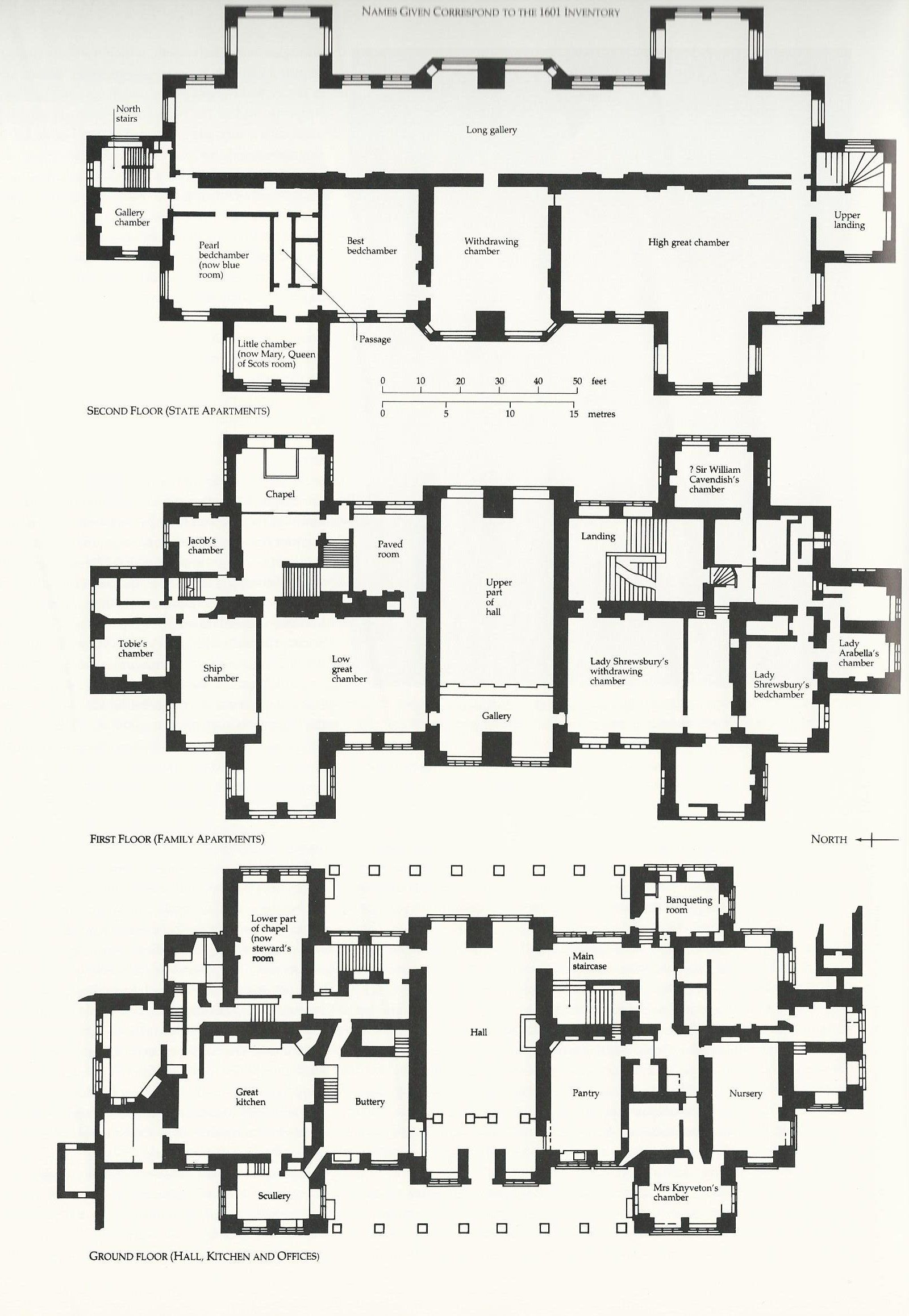 Hardwickplan houseplans mansions and castles for Castle blueprints and plans