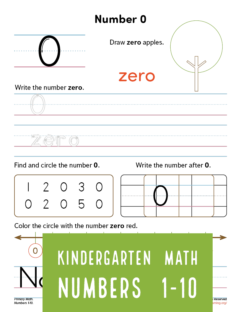 All About Number 0 Worksheet Primarylearning Org Number Words Writing Numbers Counting For Kids [ 1056 x 816 Pixel ]