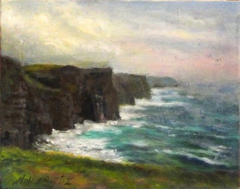 Cliff Edge Painting by Carolyn Jarvis