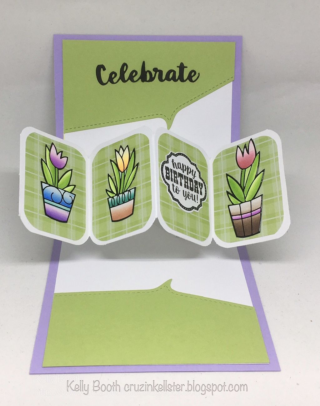 Kelly Booth using the Pop it Ups Twist Circle and Flourish Gift Frame die sets by Karen Burniston for Elizabeth Craft Designs.