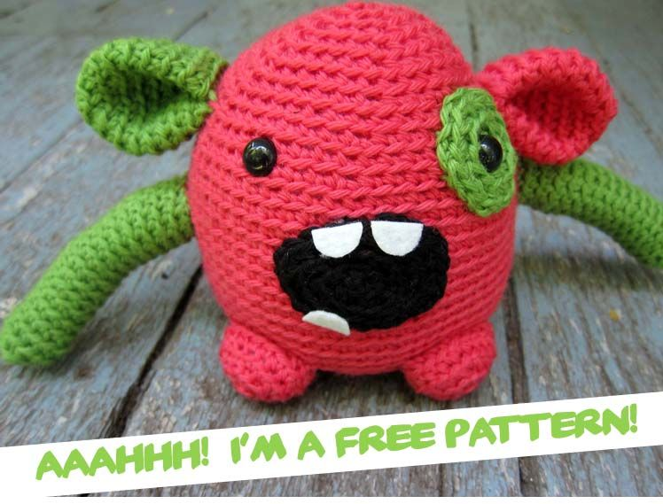 Amigurumi Monster Pattern Free Crochet : I m so excitedu today i get to show you monsters that i