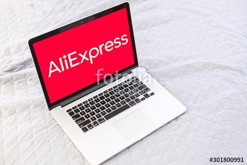 Kyiv Ukraine  November 10 2019 macbook pro with Internet shopping service Aliexpress on the screen