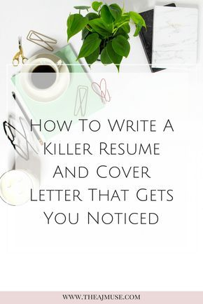 How to write a killer resume and cover letter CV \ Motivational - making a resume cover letter