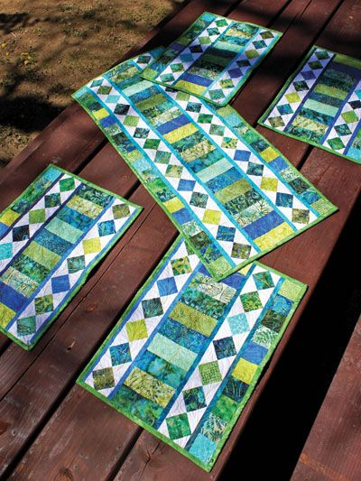 With Only 24 2 1 2 Strips You Can Create Your Own Unique Table Settings Finished Quilted Table Runners Patterns Table Runner Pattern Quilted Table Toppers