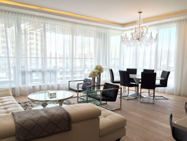 cove lighting design. 215 Redfern Model Residence - Daytime. LED Cove Lighting Details, Sheer Ripple Fold Curtains Design