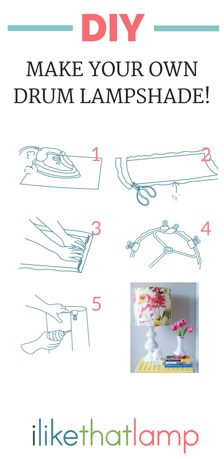 Diy Drum Lampshades Crafts Project Ideas Closed Group Shade Wiring Diagram All You Need Is Pressure Sensitive Styrene Wire Rings Tacky Glue Your Fave Fabric To Make A Lamp Love